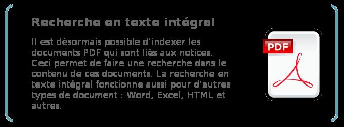 Recherche en texte intégral: parcourir des fichiers PDF et autres