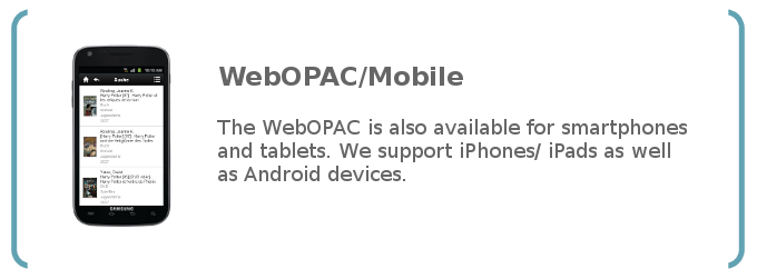 WebOPAC for mobile devices: Smartphones and Tablets