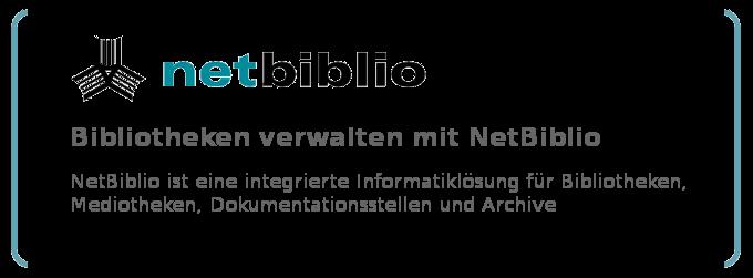 Bibliotheken verwalten mit der Bibliothekssoftware NetBiblio - NetBiblio ist ein integriertes Bibliothekssystem zur Bibliotheksverwaltung für Bibliotheken, Mediotheken, Dokumentationsstellen und Archive.