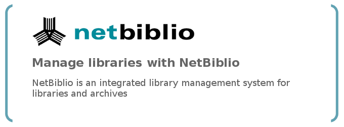Manage libraries with the library system NetBiblio